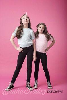 Added by @hahah0ll13. Dance Spirit Magazine: Dance Moms Maddie and Mackenzie Ziegler