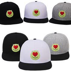 New Mens Womens Authentic Disney PIXAR MONSTER Heart Baseball Snapback Caps Hats #hellobincom #BaseballCapHats