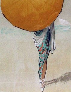 "Limited Edition Print ""Parasol 1990"" by Rene Gruau"