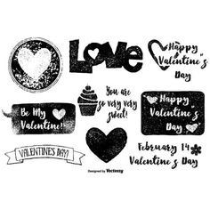 Grunge Valentine's Day Vectors ❤ liked on Polyvore featuring phrase, quotes, saying and text