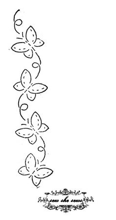 vintage butterflies embroidery pattern  For personal use.