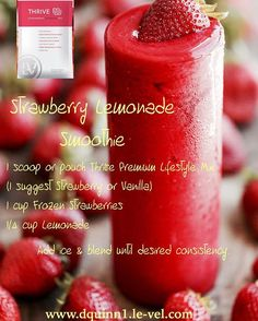 I placed my order for the NEW Strawberry flavored Thrive shakes! I can't wait…