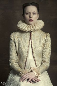 The Look: by Romina Ressia for Vogue Italia beauty Photo Portrait, Portrait Photography, Fashion Photography, Costume Blanc, Ruff Collar, Renaissance Portraits, Foto Fashion, Artistic Photography, Contemporary Photography