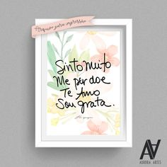 Discover recipes, home ideas, style inspiration and other ideas to try. Poster Digital, Wallpaper Quotes, Macarons, Tatoos, Bedroom Decor, Watercolor, Frame, Creative, Blog