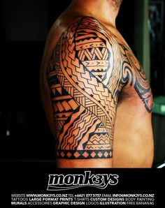 polynesian half sleeve tattoos | Polynesian / Maori half sleeve and chest plate 3 by ~Monk3ys-Tattoos ...