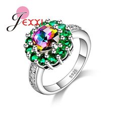 PATICO High Quality 925 Silver Fashion Finger Ring Elegant Wedding Bands Jewelry CZ Crystal Austrian Crystal For Women