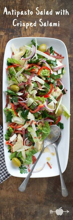 Antipasto Salad with Crisped Salami