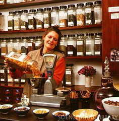 Herbal remedy shop.I want to work there!