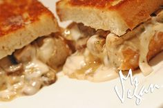 Chick-no Mushroom Marsala Grilled Cheese! #vegan