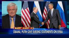 "9/28/15 - ""We Have Watched a Steady Decline of American Influence Under Obama"". . . Newt Gingrich went ""On The Record"" tonight to discuss President Obama and Russian President Vladimir Putin's dueling speeches on the crisis in Syria and the first face-to-face meeting between the two leaders in nearly a year."