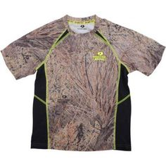 Realtree and Mossy Oak Boys' Camo Short Sleeve Performance Tee, Size: Small, Multicolor