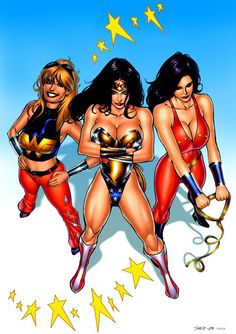 Wonder Girl (Cassie Sandsmark), Wonder Woman (Diana Prince) and Donna Troy Dc Comics, Comics Girls, Comic Book Publishers, Comic Book Artists, Comic Books Art, Comic Artist, Wonder Woman Art, Wonder Women, Cassie Sandsmark