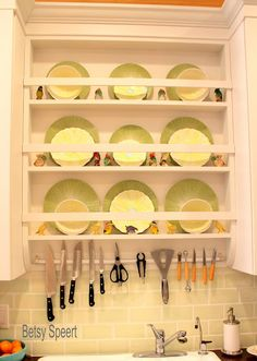 My Florida kitchen plate rack