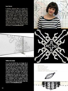 "(III) article about de bobbin lace teacher and contemporary lace artist Marian Núñez from de magazine ""Obradoiro de artesanía"" The whole magazine here (Spanish and English text)  http://bit.ly/w0TyBB"