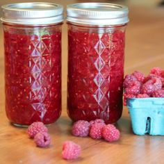 Red Raspberry Freezer Jam