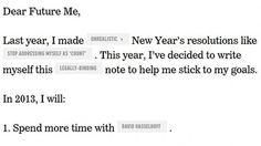 Humorous New Year's resolution reminder