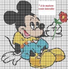 Voici une des grilles de Mickey refaite en plus grande :