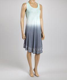 Mint & Gray Ombré Dress - Plus #zulily #zulilyfinds