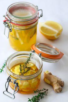 Potion d'hiver « Citron-gingembre-thym-miel »