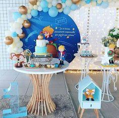 Painel Redondo 40 Inspirações Imperdíveis Tendência para festa em 2019 Prince Birthday Theme, First Birthday Parties, Birthday Party Themes, Little Prince Party, The Little Prince, Birthday Balloon Decorations, Baby Shower Decorations, Baby Boy Shower, Baby Shower Gifts