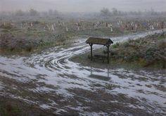 © Aron Wiesenfeld, Border, huile sur toile, 144×203 cm, 2014
