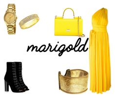 """Maingold"" by the-killer-of-dreams ❤ liked on Polyvore featuring Dsquared2, Dolce&Gabbana, Gucci, Crislu and Barbara Bui"