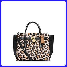 Michael Kors Hamilton Traveler Leopard Calf Hair Large Satchel - Top handle bags (*Amazon Partner-Link)