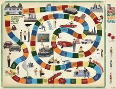 The Ferris Bueller's Day Off board game by Max Dalton