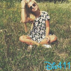 Photo: Olivia Holt Pretty In A Field July 15, 2014