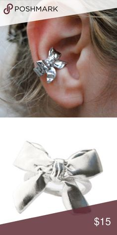 Mr. Kate Bow Ear Cuff Mr Kate Bow Ear Cuff, Sold Out. Worn once. High quality brass plated with nickel-free antiqued sterling silver. No box. Slips on easily, no piercing needed. Very boho chic! Mr. Kate Jewelry Earrings