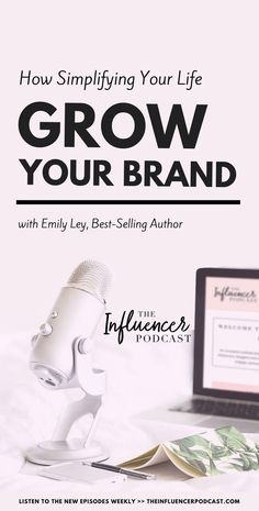 How simplifying your life can turn your business into a social media phenomenon with Emily Ley. Emily is Founder and Creative Director of Emily Ley Paper & Gifts. She is also the creator of the bestselling Simplified Planner -a daily agenda for what matters most. The influencer podcast with Julie Solomon. Blogging podcast, business podcast, podcast episode, grow your brand, simplify your life #blogginghacks #bloggingtips #blogging #growyourbrand #brand #simplify #podcastepisode