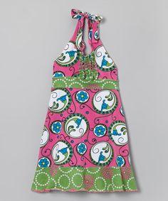 Look what I found on #zulily! Pink Nouveau Halter Dress - Toddler & Girls #zulilyfinds
