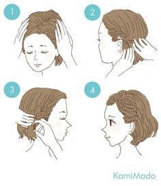 cabelo curto preso lateralmente