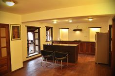Open kitchen - http://www.cosynepal.com/accommodations/durbar-squarehouse/