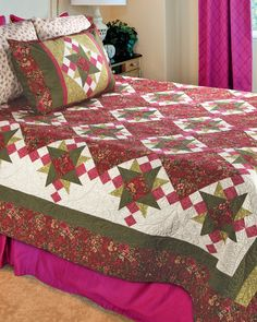 """""""Rose Apple Cottage"""" by Marianne Elizabeth (from The Quilter Magazine December 2013/January 2014 issue)"""