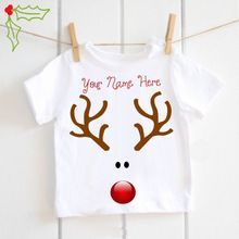 Rudolf the Reindeer personalised T-shirt baby boys Christmas Tshirt Toddler kids white tops tee funny print t shirt girls Baby Boy Christmas, My First Christmas, Childrens Christmas, Etsy Christmas, Christmas Shirts, Christmas Pajamas, Christmas Ideas, Baby Outfits, Funny Prints