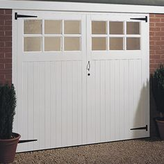 Jeldwen Side Hung Glazed Timber Garage Doors X