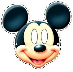 Free printable Mickey Mouse masks are perfect for Halloween, a birthday party or just having fun! #mickeymouse