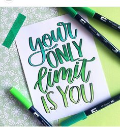 Brush Lettering with Tombow Dual Brush Pens Brush Lettering Quotes, Hand Lettering Quotes, Creative Lettering, Lettering Design, Calligraphy Letters, Typography Letters, Handwritten Quotes, Drawing Quotes, Doodles