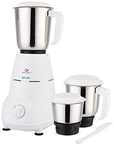 Buy #4: Bajaj Rex 500-Watt Mixer Grinder with 3 Jars (White)