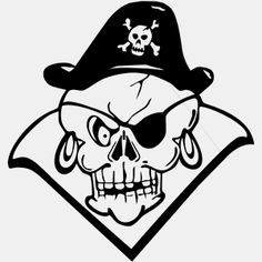 #Pirate Skull Decal 013 is a high quality vinyl decal that can be adhered on your car, notebook, computer or just about any smooth clean surface and Looks great on car windows,Comes with installation instructions.  http://www.decalstore.com/Pirate-Skull-Decal-013-P530.aspx