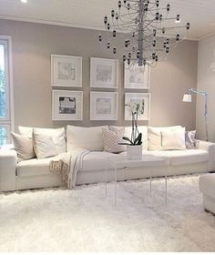 white living room decor view larger red black and white living room decorating ideas. white living r Living Room Red, Living Room Interior, Beige And White Living Room, Cream Living Room Decor, Cream Carpet Living Room, Beige Room, Beige Living Rooms, Room Carpet, Living Room Colors