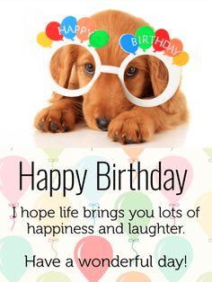 Celebrating Dog Happy Birthday Card For Kids