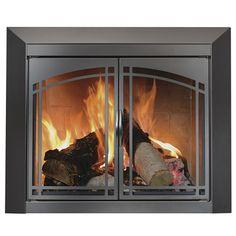 ceramic glass fireplace doors $99~$169 | Fireplace | Pinterest ...