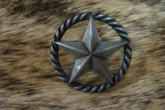 Pewter Star Cabinet Pull with Rope Trimm