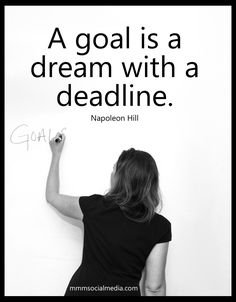 Entrepreneurs understand the relationship between a goal and a dream. #startup #mmmsocialmedia