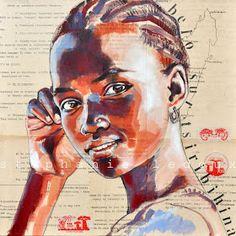 Fa mesos us vaig ensenyar les obres d'aquesta artista francesa i de nou, una nova sèrie dels seus retrats que enamoren. Ella anomena a aques...