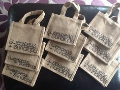 Branded and ready Small Jute Bags, Burlap, Reusable Tote Bags, Hessian Fabric, Jute, Canvas