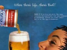 Budweiser ad (1950s)