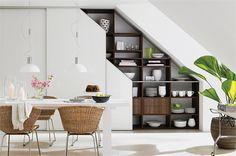built in shelving unit | Sliderobes built in wardrobes in white glass for kitchen